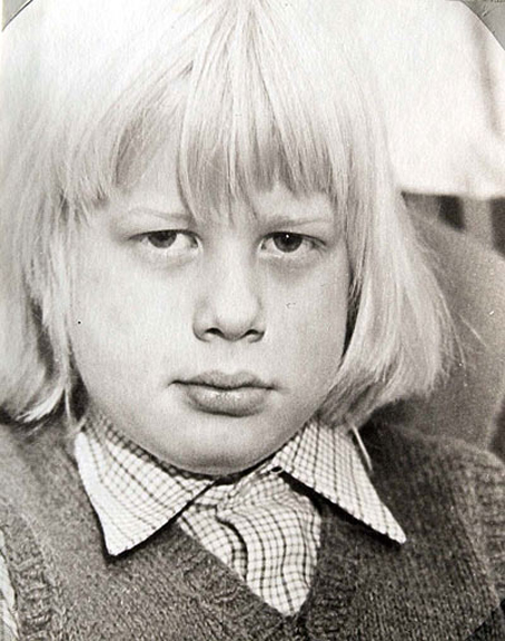 Collect picture of a young Boris Johnson. please credit Sophie Baker