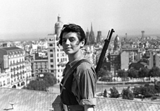small Marina_Ginest_of_the_Juventudes_Comunistas_aged_17_overlooking_anarchist_Barcelona_during_the_Spanish_Civil_War_21_July_1937